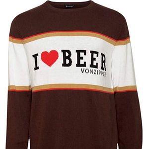 Classic I ❤️ Beer Sweater Von Zipper